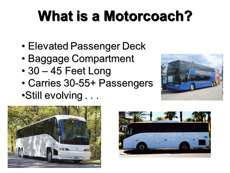 What is a Motorcoach Elevated Passenger Deck Baggage Compartment