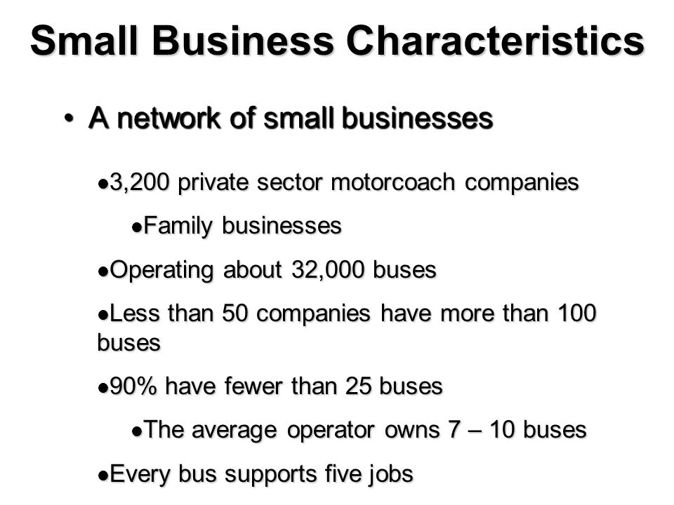 Small Business Characteristics