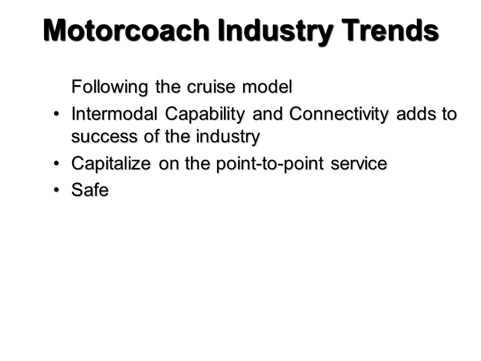 Motorcoach Industry Trends