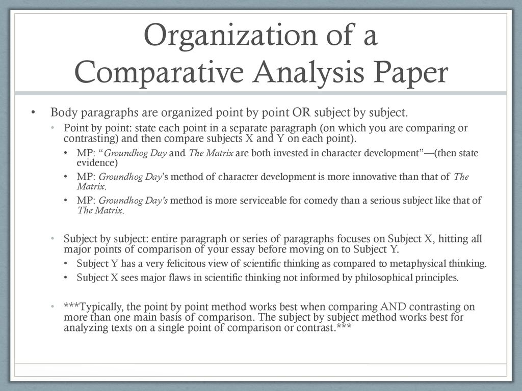 Compare and contrast philosophy essays