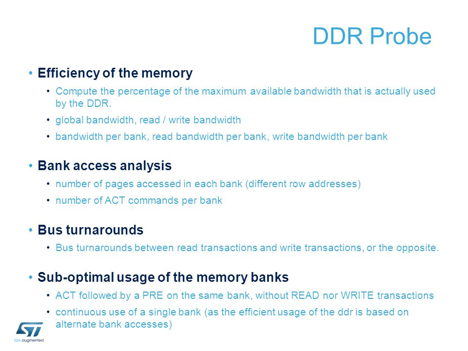 DDR Probe Efficiency of the memory Bank access analysis