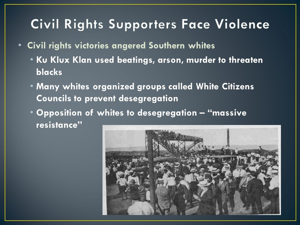 Civil Rights Supporters Face Violence