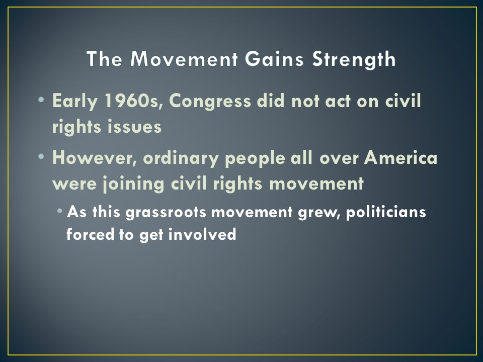 The Movement Gains Strength