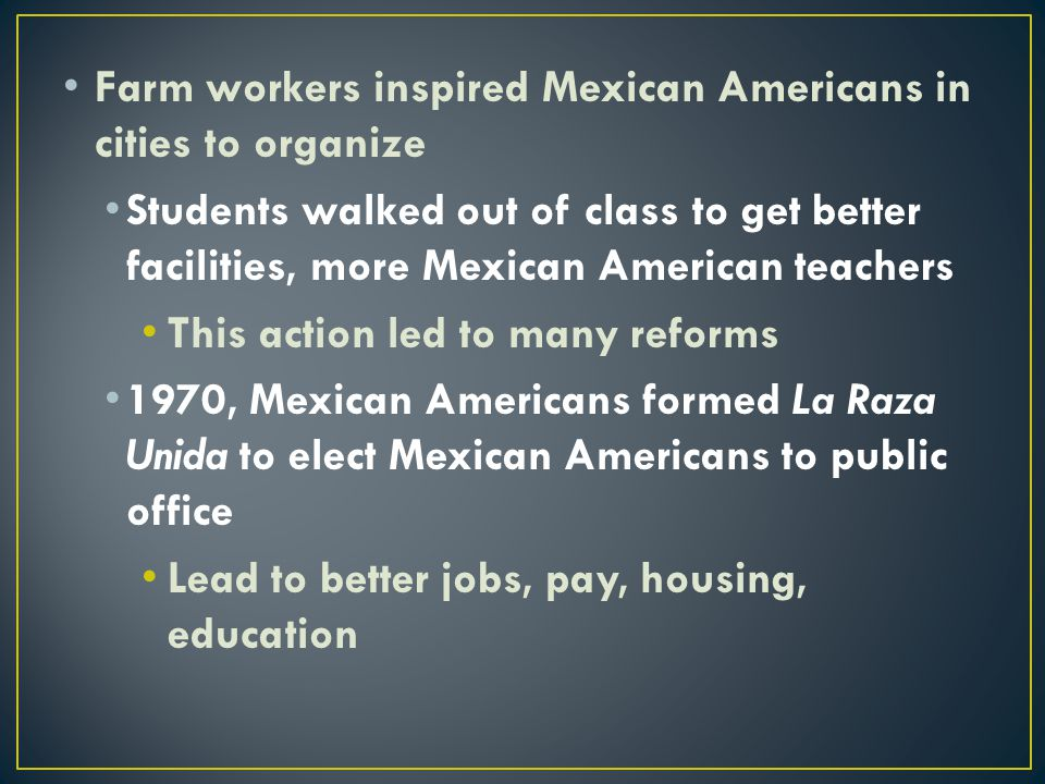 Farm workers inspired Mexican Americans in cities to organize