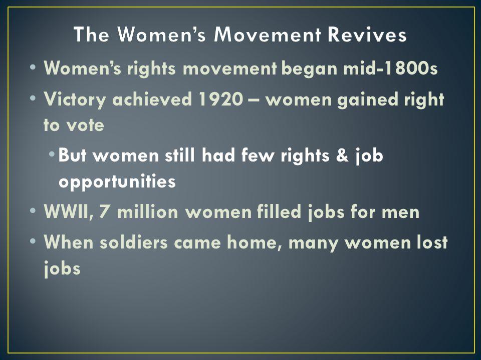 The Women's Movement Revives
