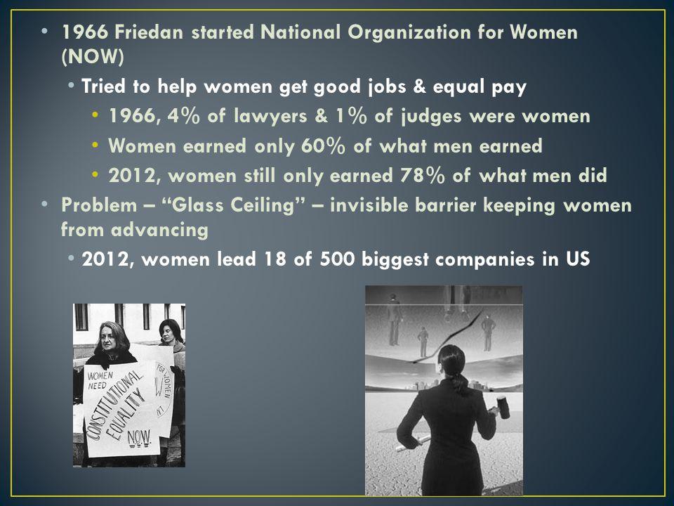1966 Friedan started National Organization for Women (NOW)