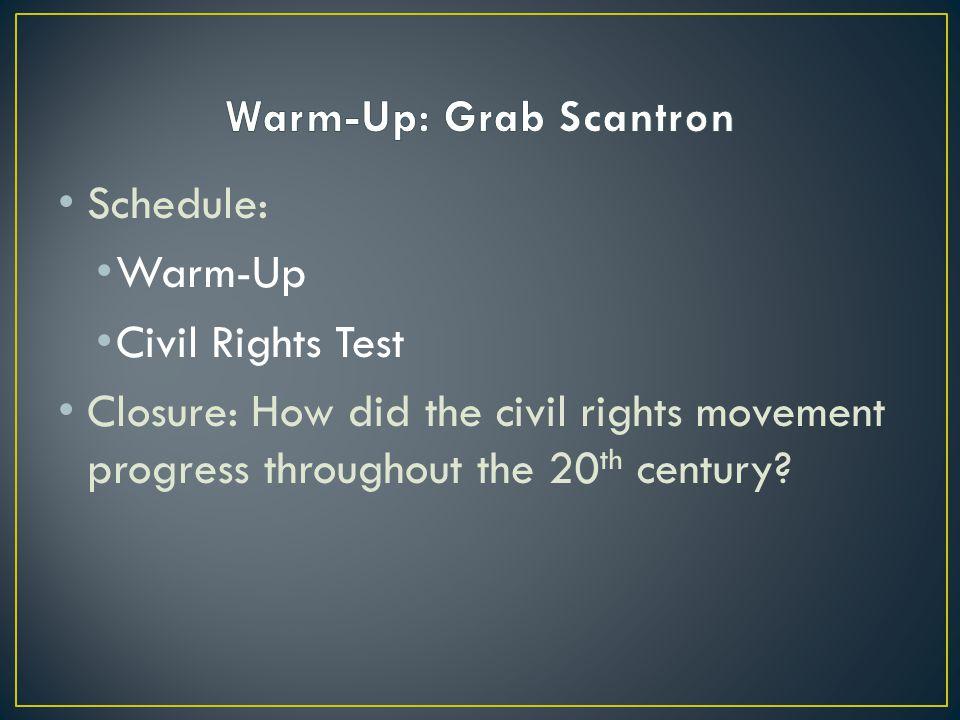 Warm-Up: Grab Scantron