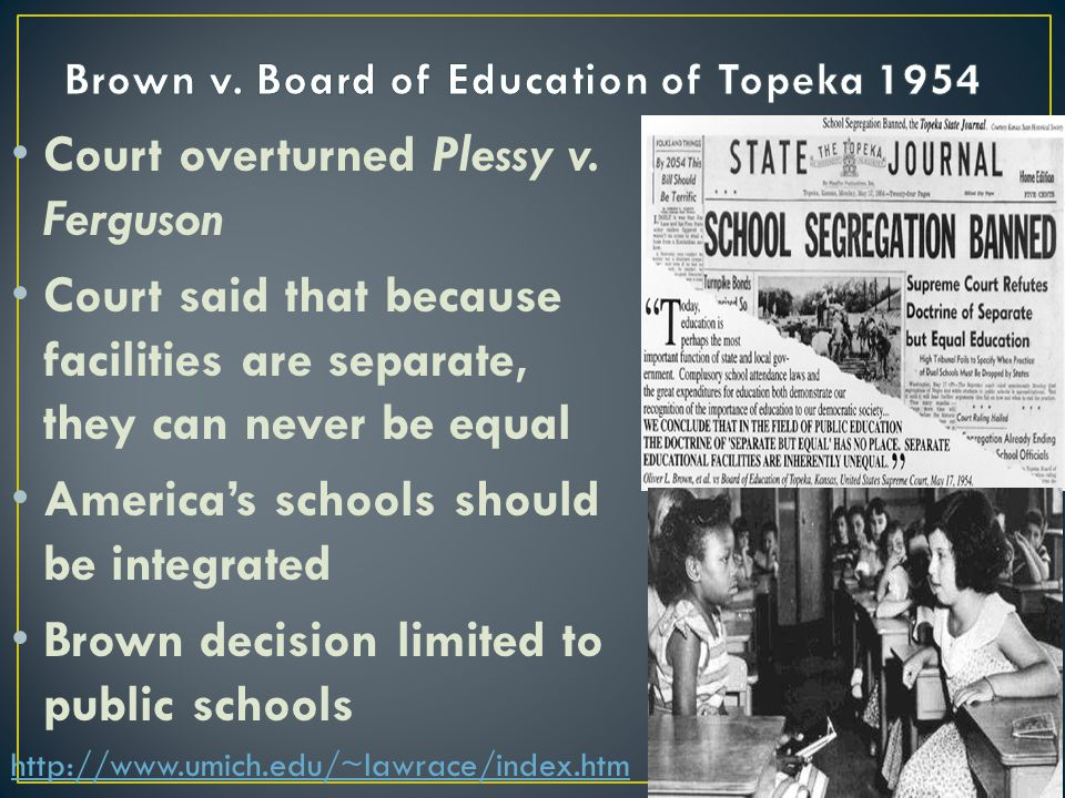 Brown v. Board of Education of Topeka 1954