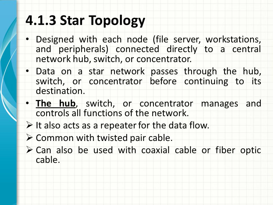 4.1.3 Star Topology