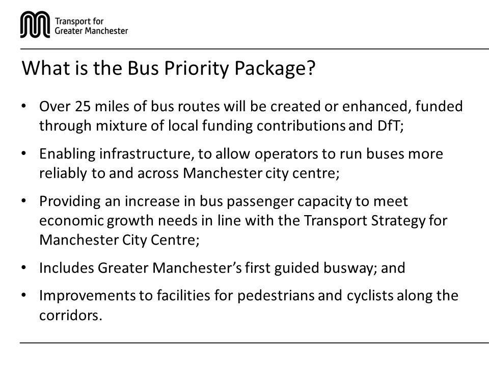 What is the Bus Priority Package