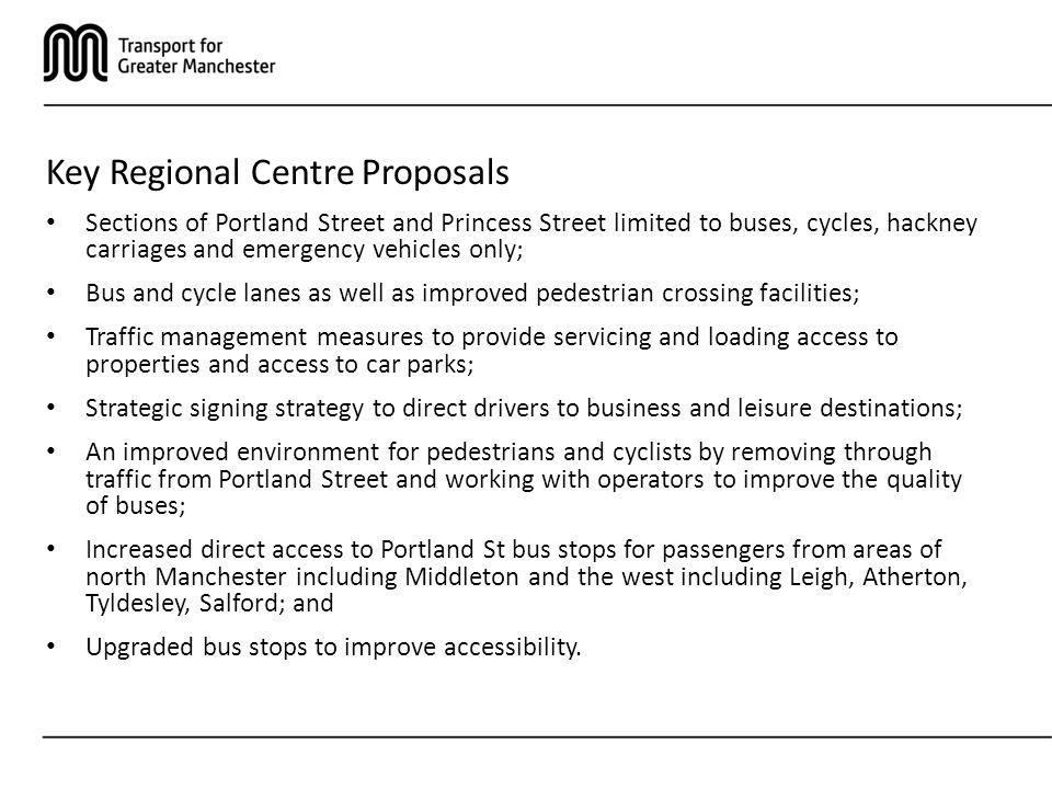 Key Regional Centre Proposals