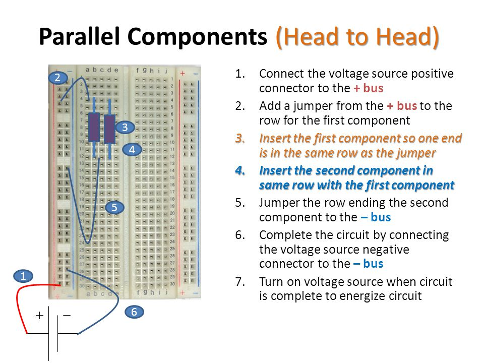 Parallel Components (Head to Head)