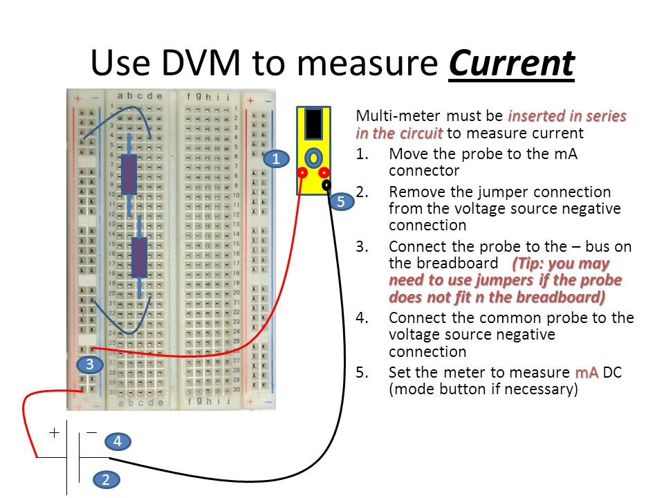 Use DVM to measure Current