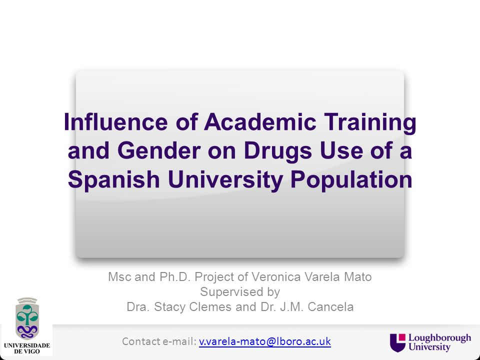 Influence of Academic Training and Gender on Drugs Use of a Spanish University Population