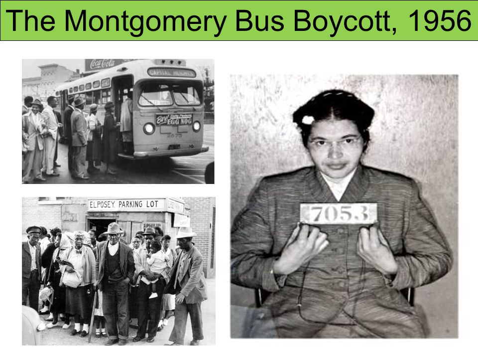 the montgomery bus boycott Boy who would have thought a black woman standing up for her rights in some small town in a bus would contribute the civil rights movement in such a big way in 1950s not only that, it shed light on a prominent civil rights activist martin luther.