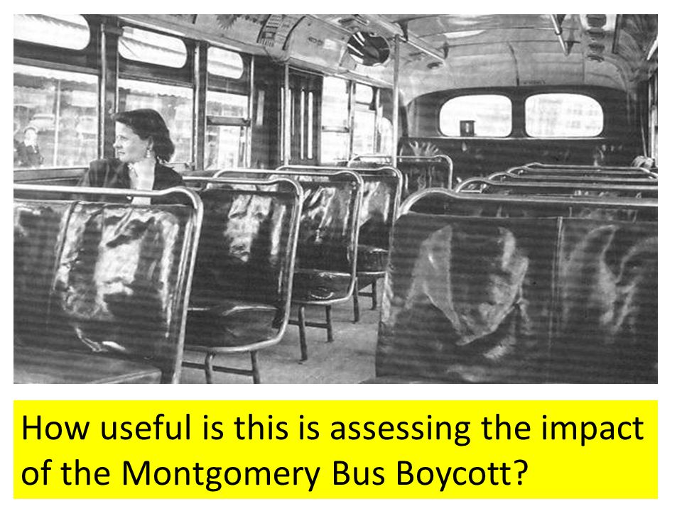 How useful is this is assessing the impact of the Montgomery Bus Boycott