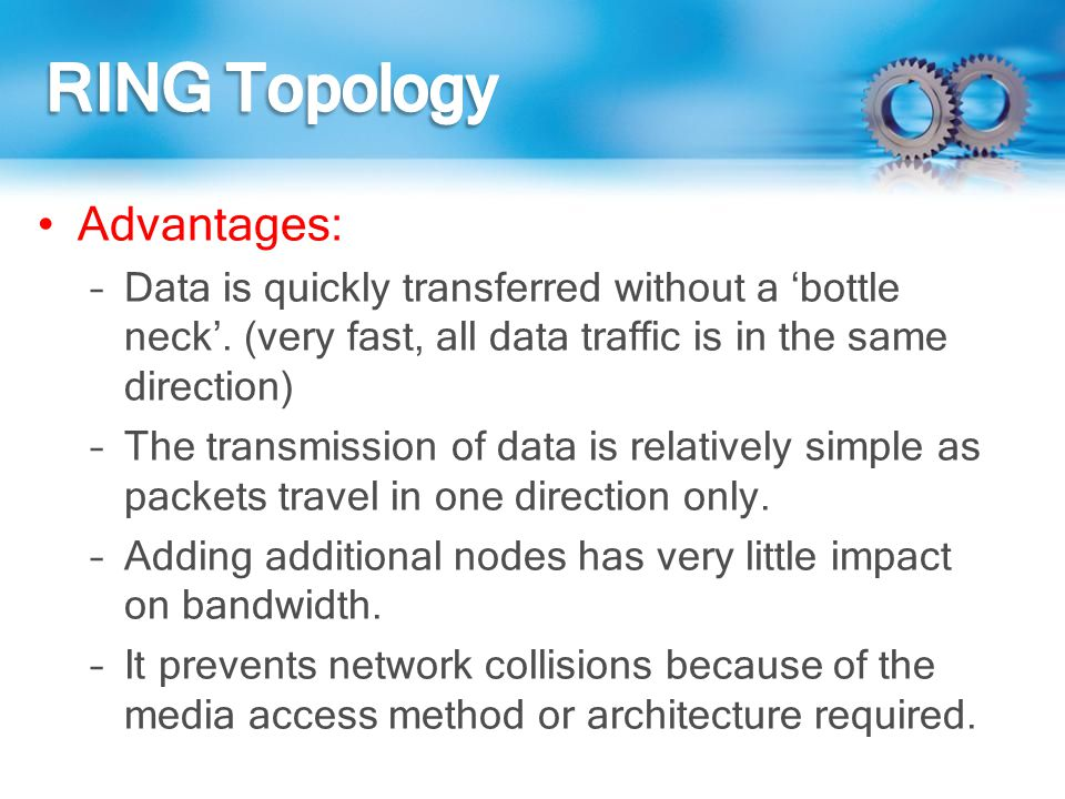 RING Topology Advantages: