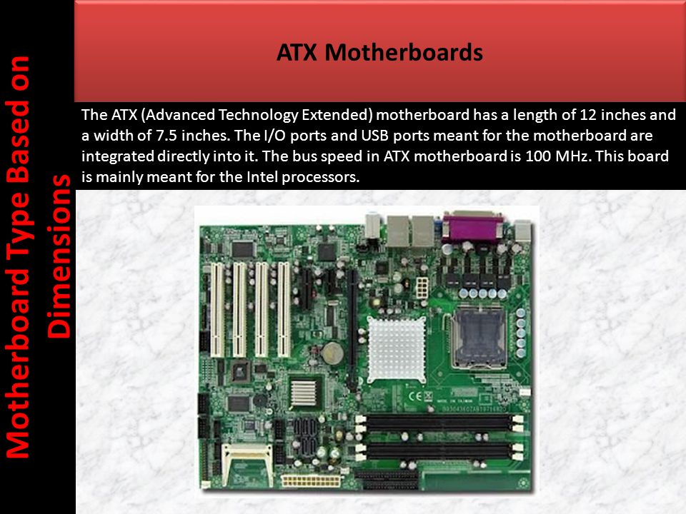 Motherboard Type Based on Dimensions