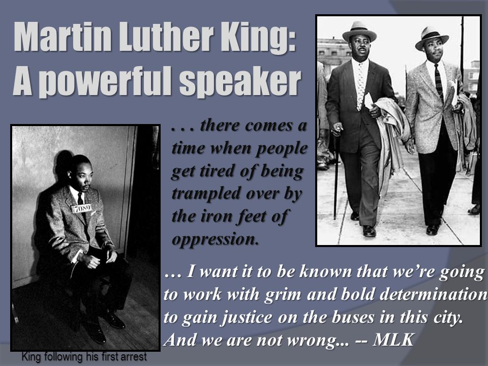 Martin Luther King: A powerful speaker