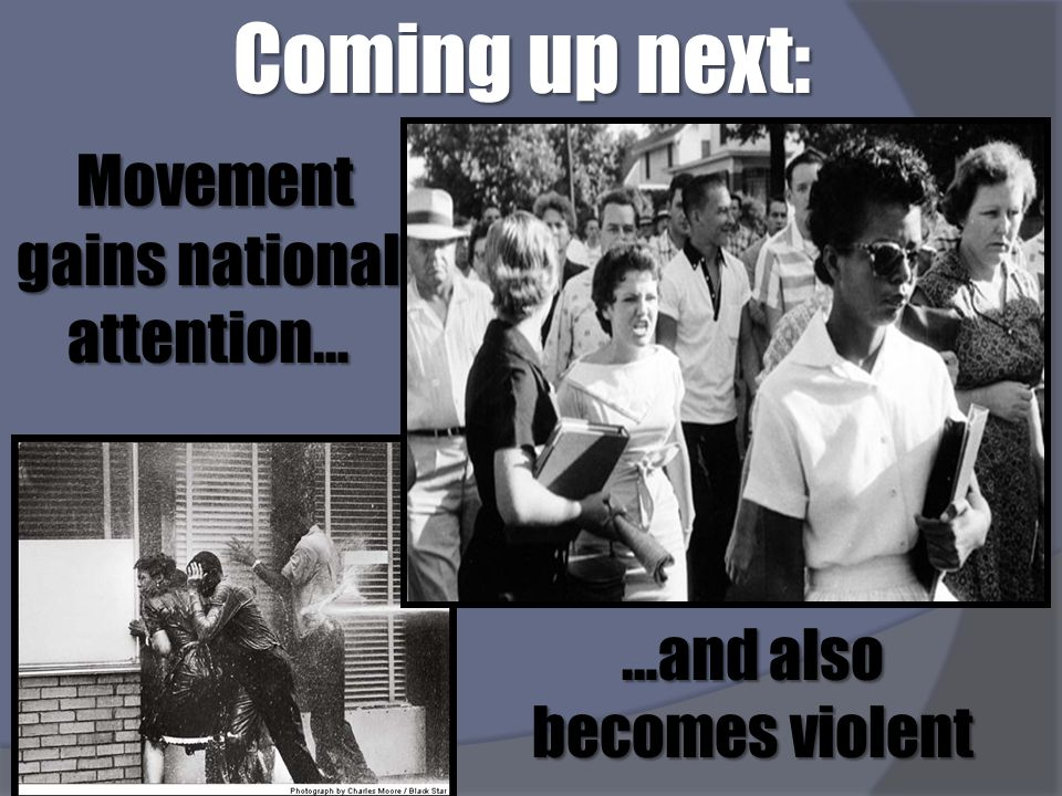 Coming up next: Movement gains national attention…