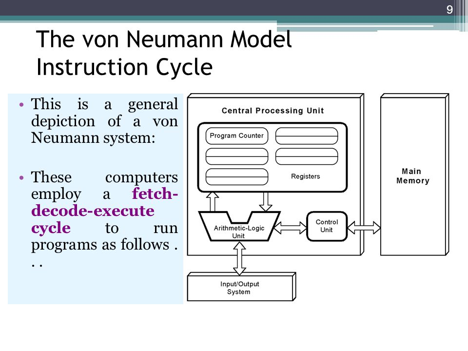 The von Neumann Model Instruction Cycle