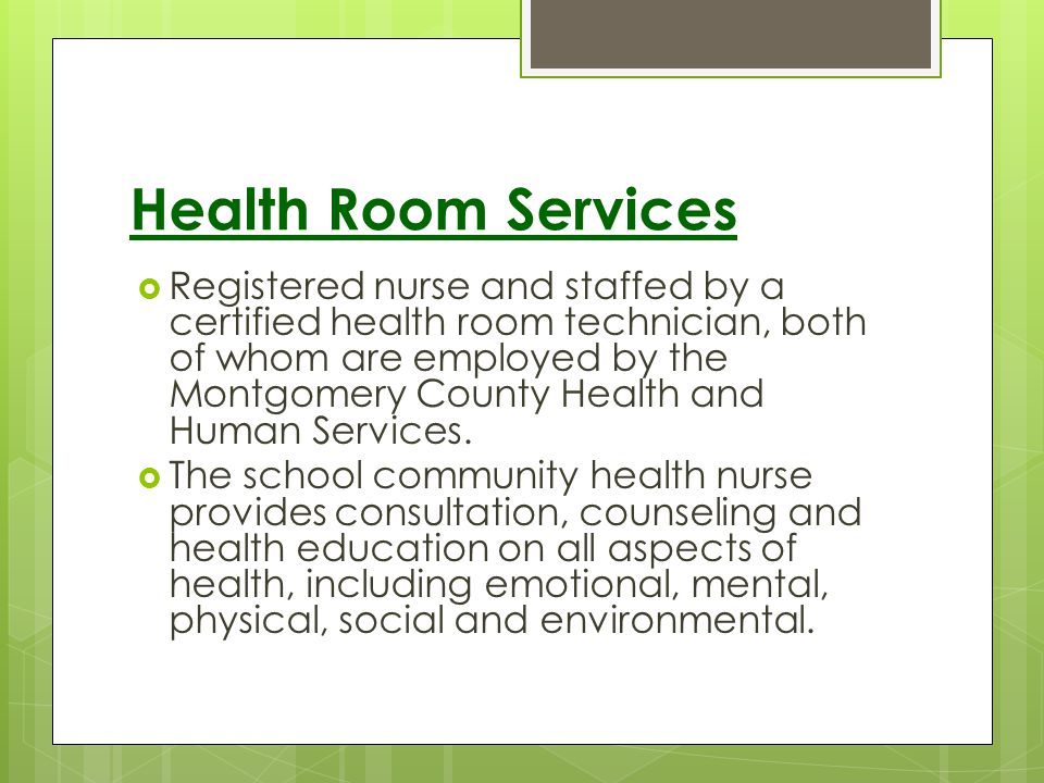 Health Room Services