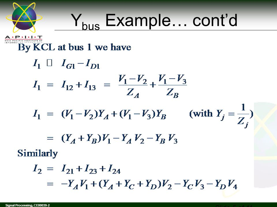 Ybus Example… cont'd Mechanical Science EE004-3-0