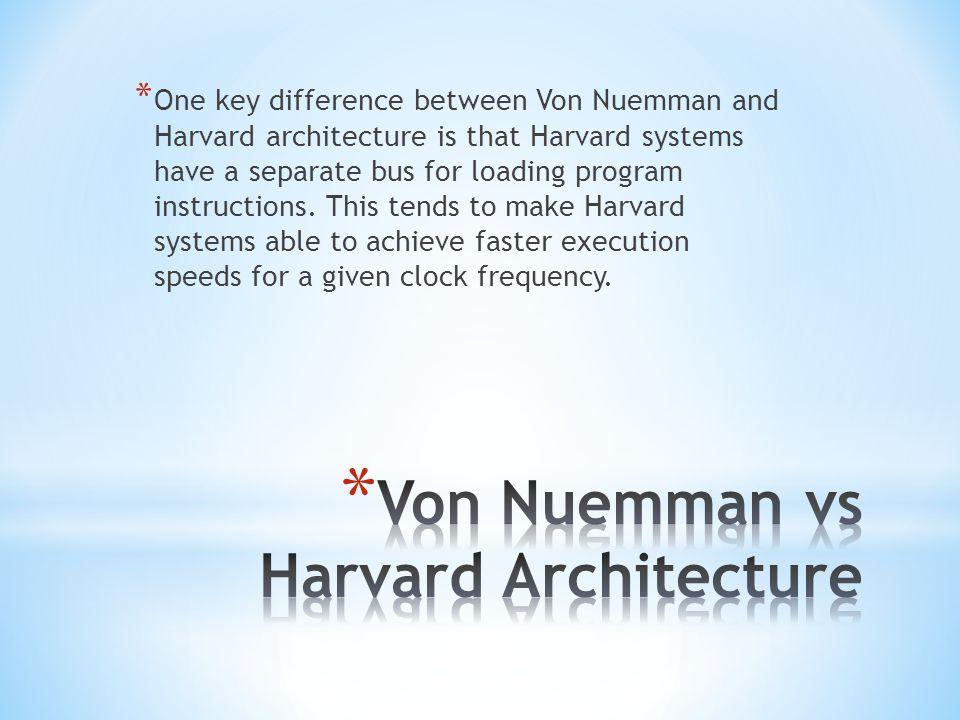 Von Nuemman vs Harvard Architecture