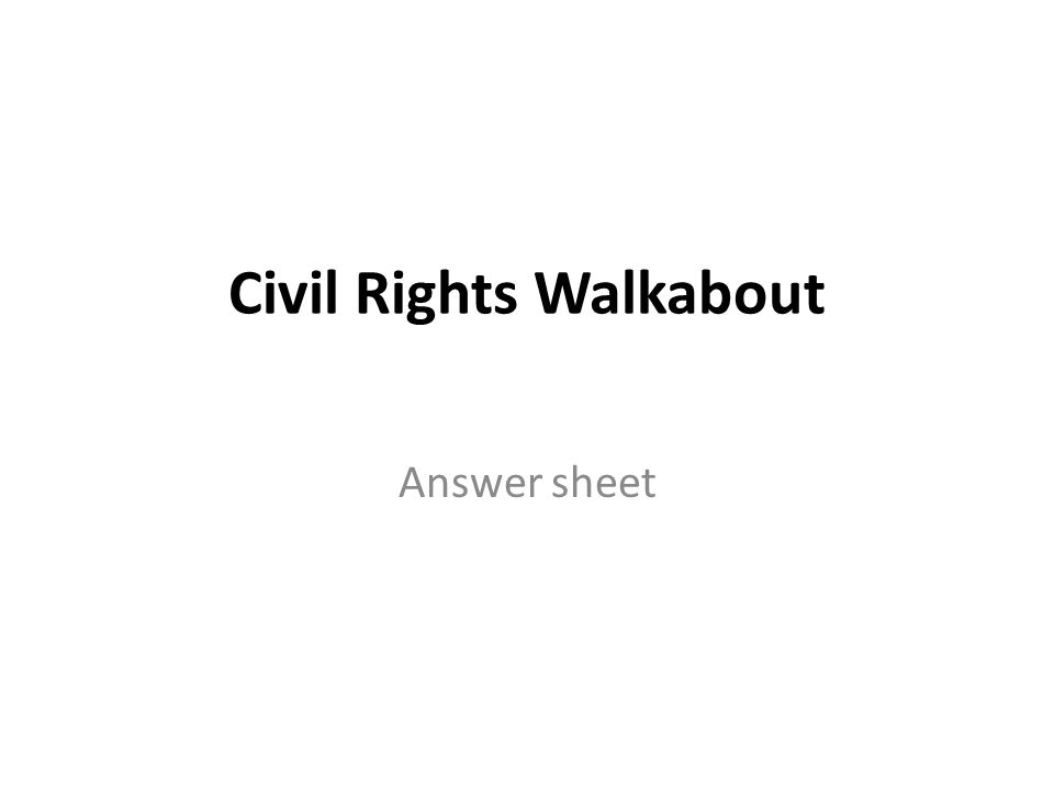 Civil Rights Walkabout