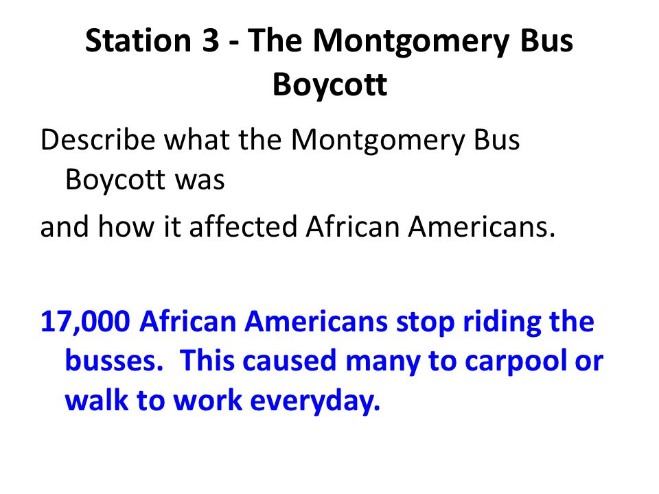 Station 3 - The Montgomery Bus Boycott