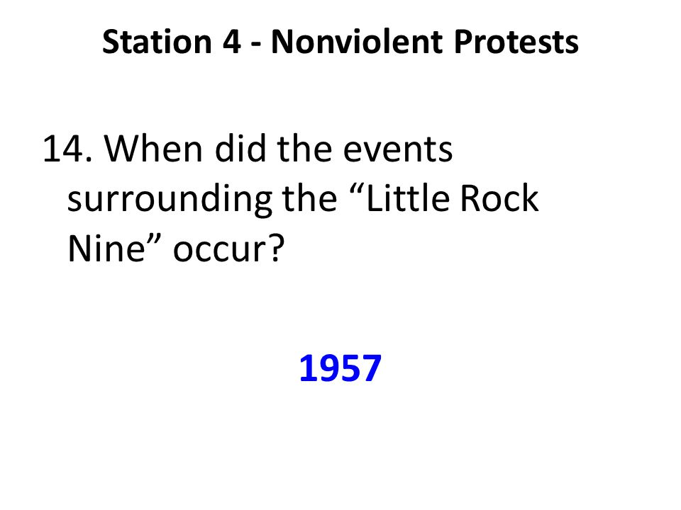 Station 4 - Nonviolent Protests