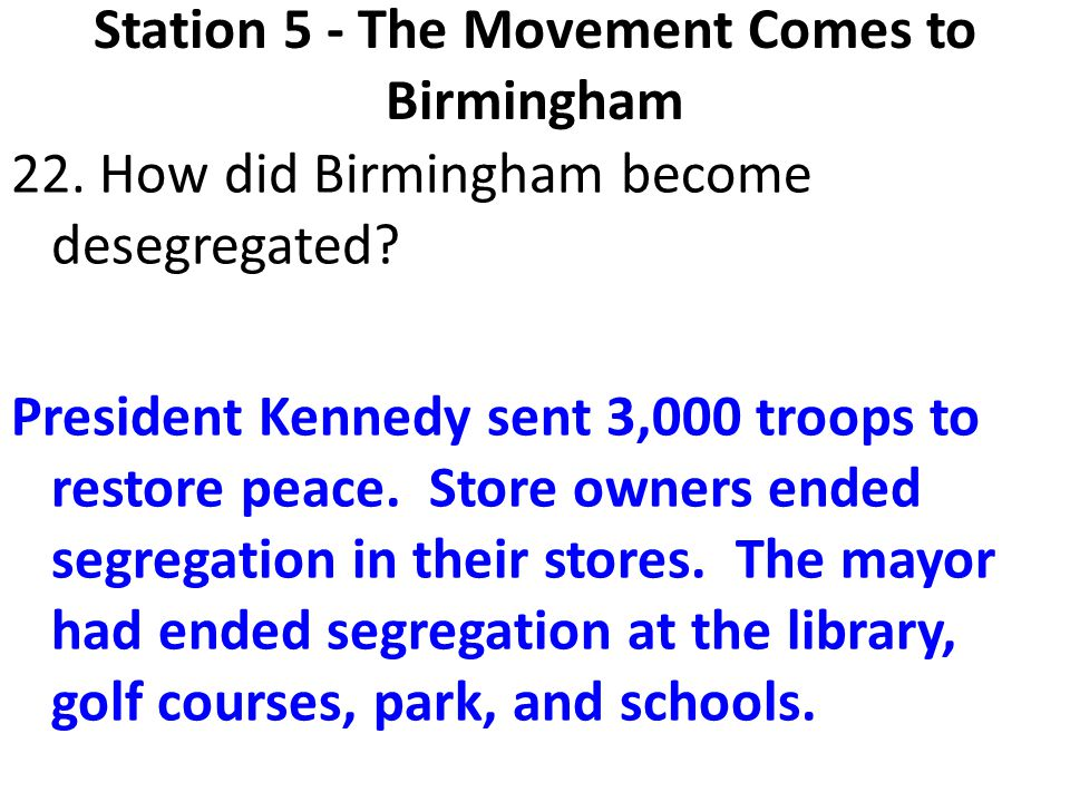 Station 5 - The Movement Comes to Birmingham
