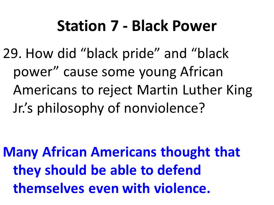Station 7 - Black Power