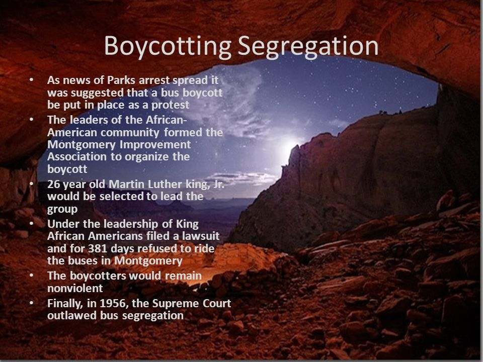 Boycotting Segregation