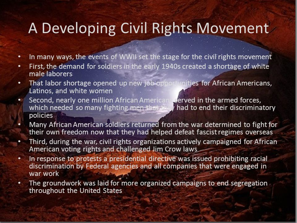 A Developing Civil Rights Movement
