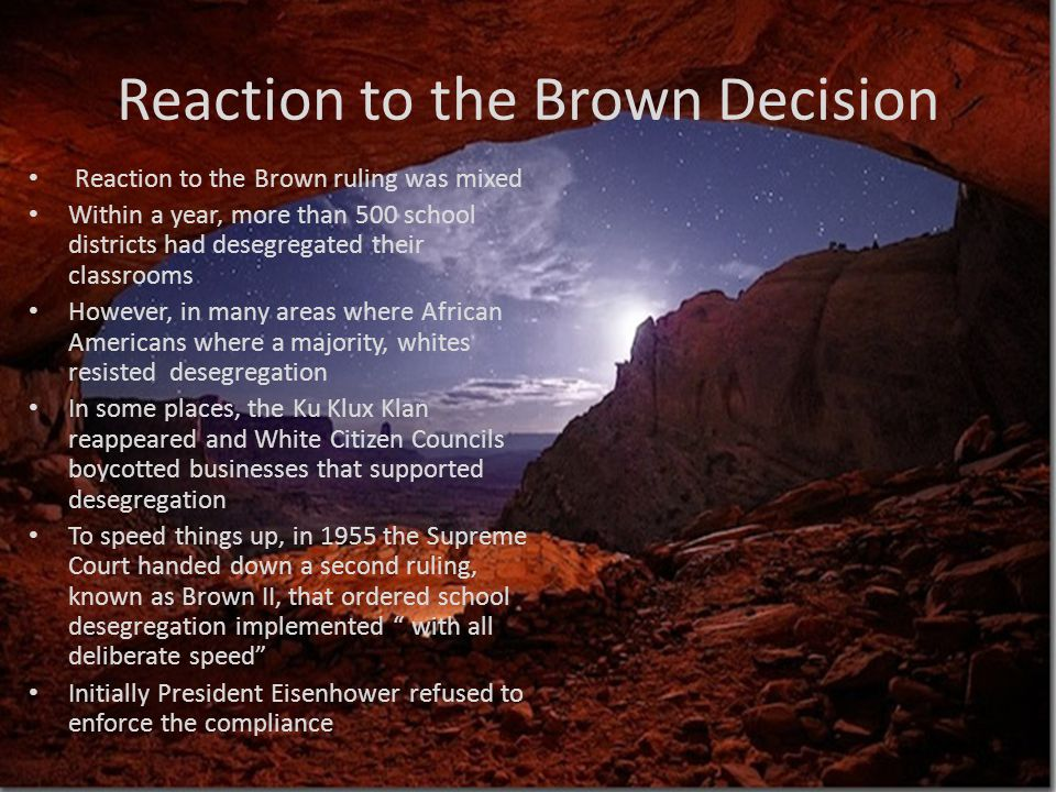 Reaction to the Brown Decision