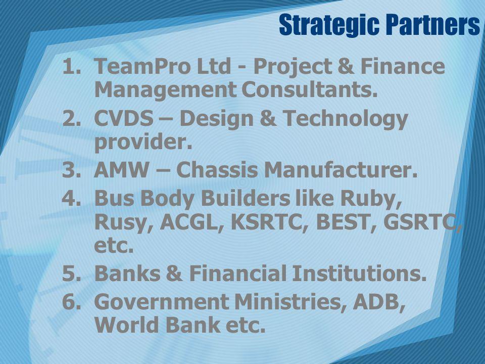 Strategic Partners TeamPro Ltd - Project & Finance Management Consultants. CVDS – Design & Technology provider.