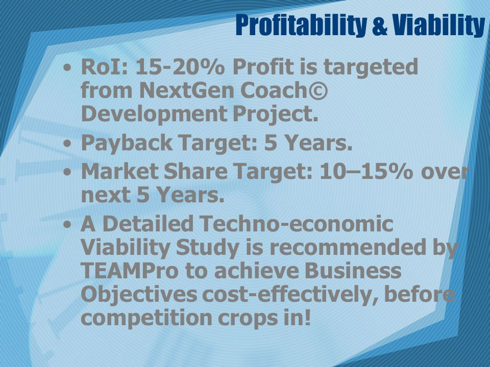 Profitability & Viability