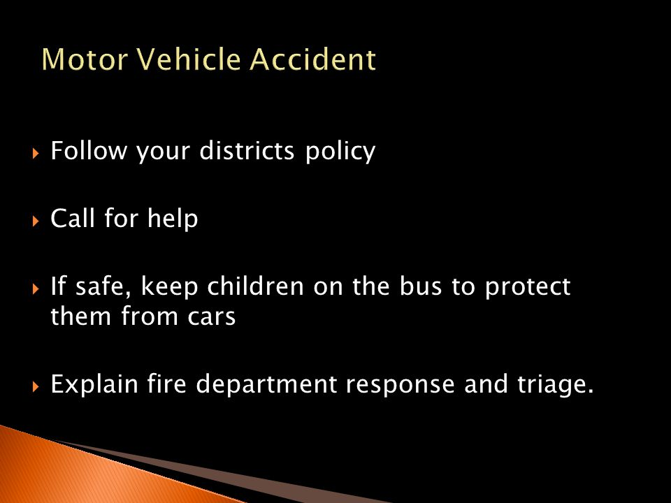 Motor Vehicle Accident