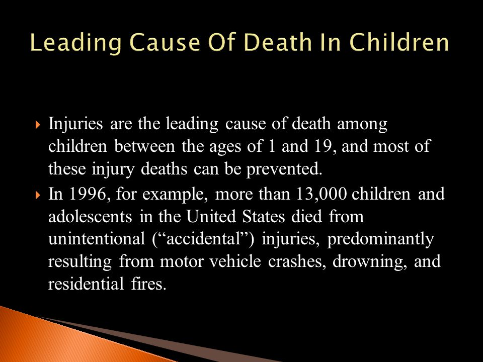 Leading Cause Of Death In Children