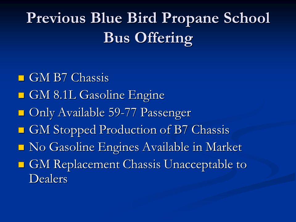 Previous Blue Bird Propane School Bus Offering