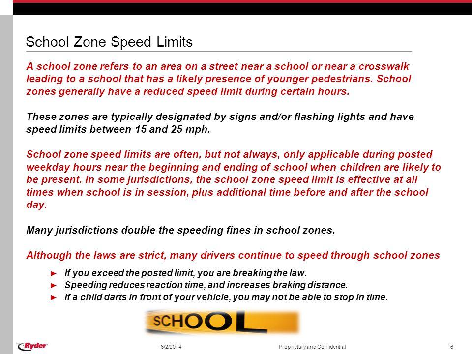 School Zone Speed Limits