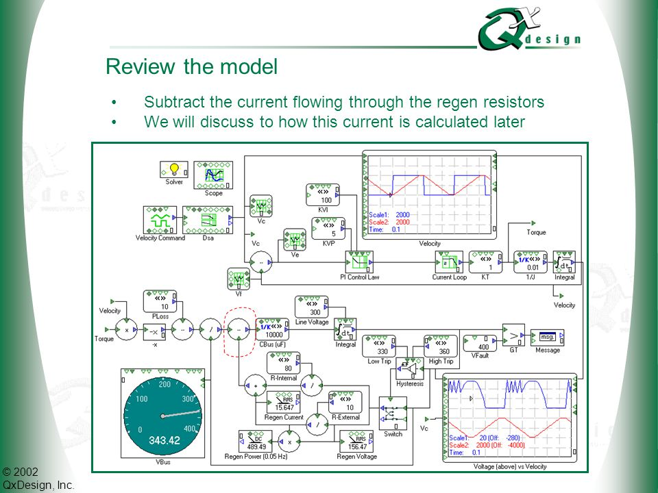 Review the model Subtract the current flowing through the regen resistors.