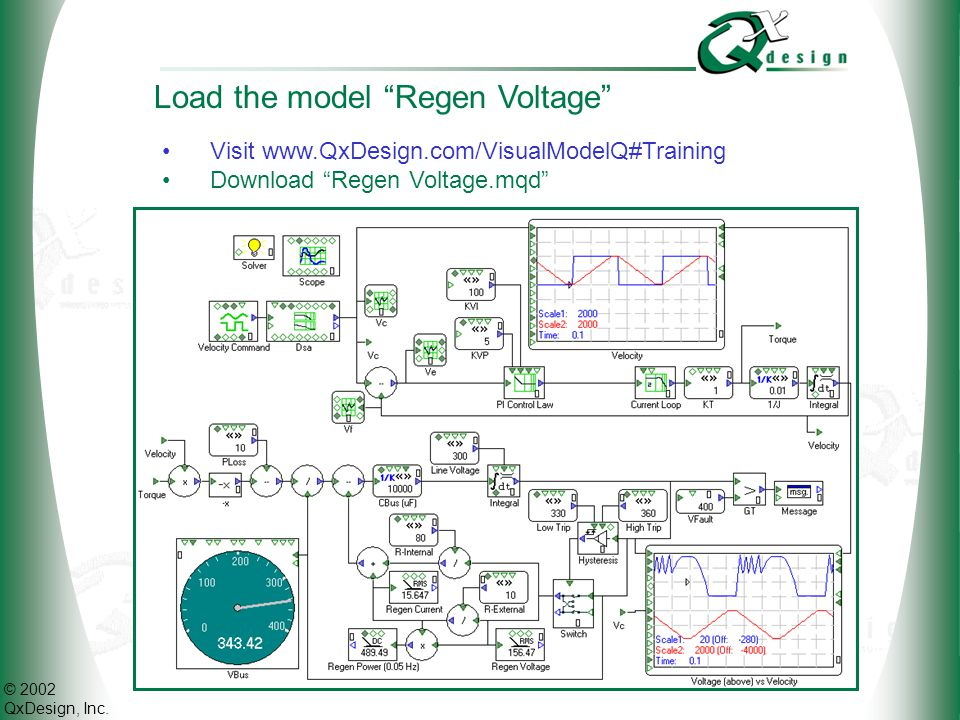 Load the model Regen Voltage