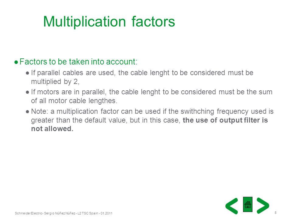 Multiplication factors