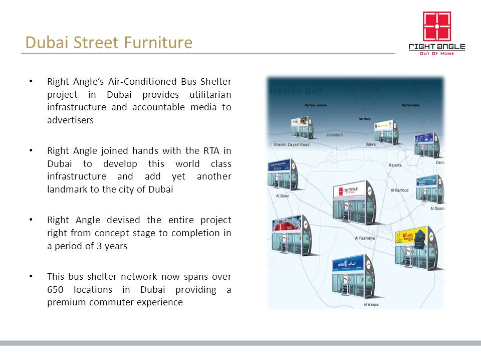 Dubai Street Furniture