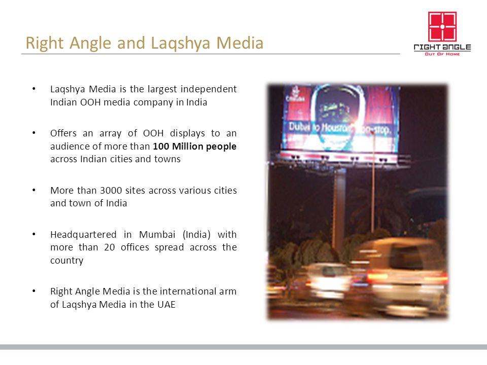 Right Angle and Laqshya Media