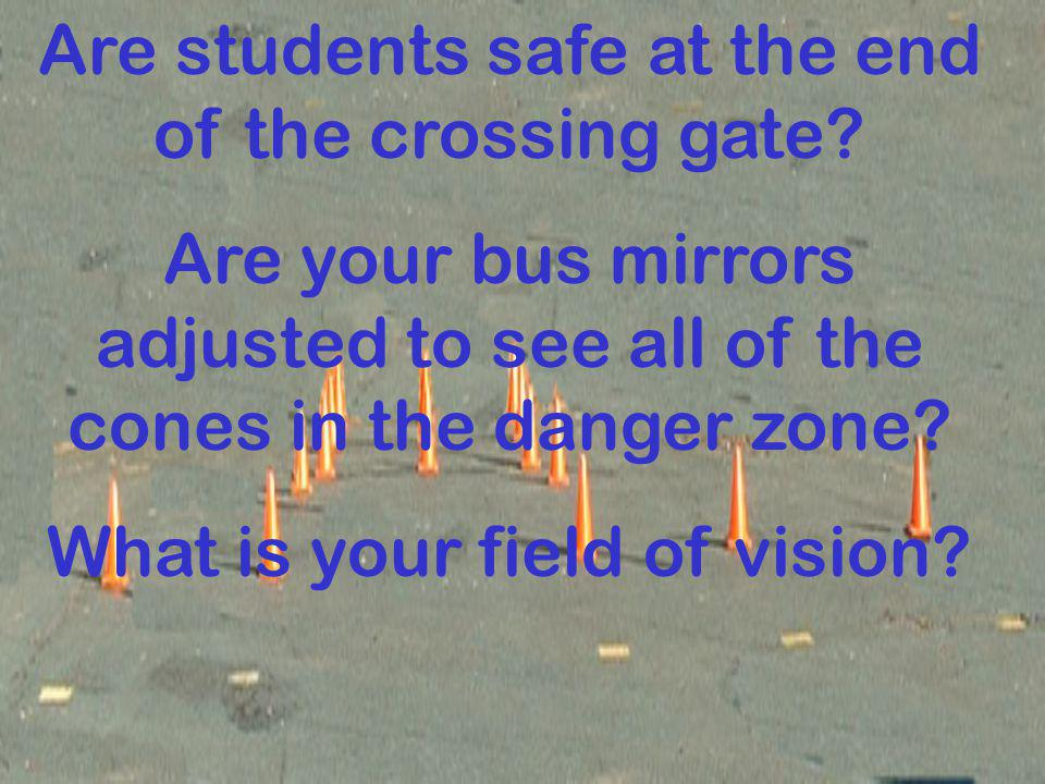 Are students safe at the end of the crossing gate