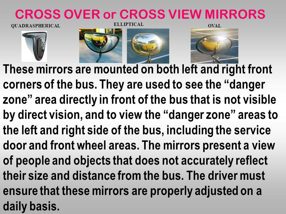 CROSS OVER or CROSS VIEW MIRRORS