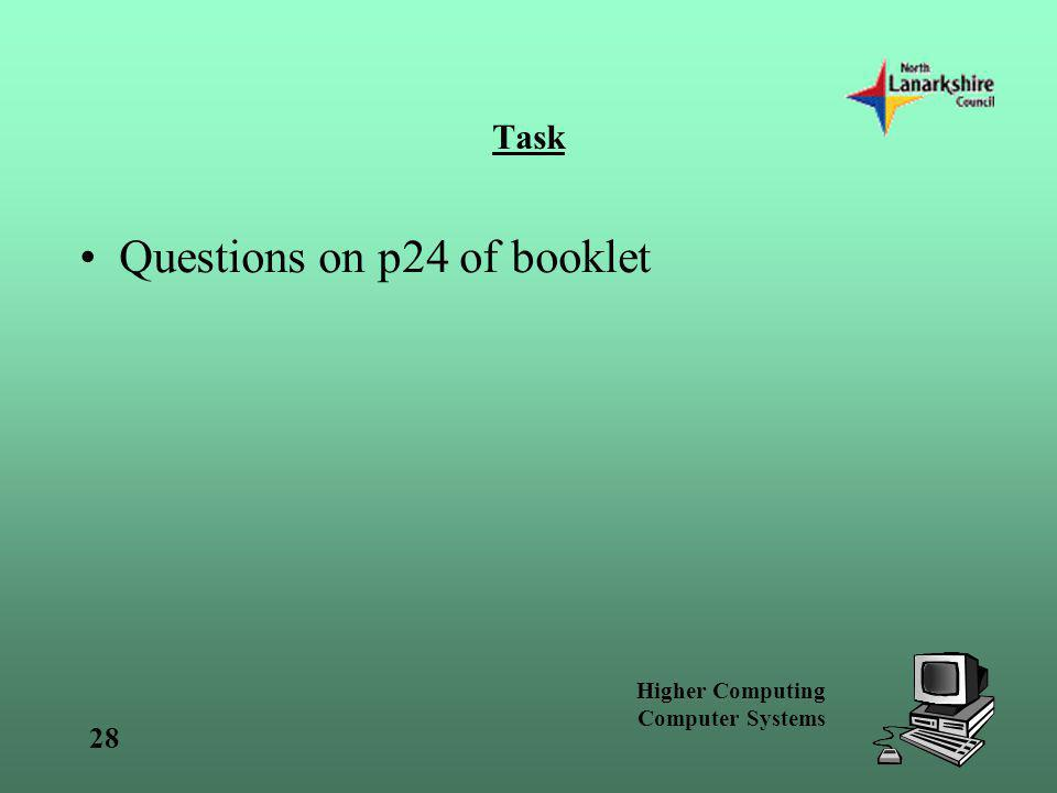 Questions on p24 of booklet